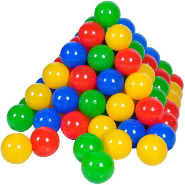 Knorrtoys 100 Bälle in knalligem Blau, Rot, Gelb und Grün ohne gefährliche Weichmacher
